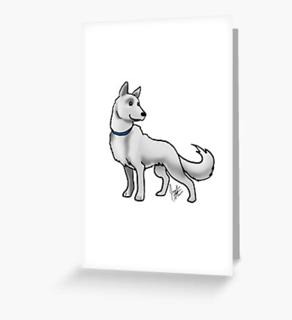 German Shepherd White Greeting Card