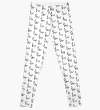 German Shepherd White Leggings