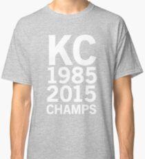 KC Royals 2015 Champions LARGE WHITE FONT Classic T-Shirt