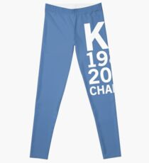 KC Royals 2015 Champions LARGE WHITE FONT Leggings