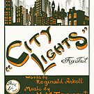 CITY LIGHTS (vintage illustration) by ART INSPIRED BY MUSIC
