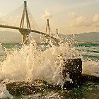Rio-Antirio Bridge Patra,Greece by Clockworkmary