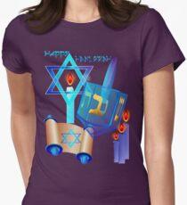 Blue Glass Dreidel-Happy Hanukkah T-Shirt