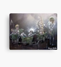 In Search Of Decent Moral Spine Canvas Print