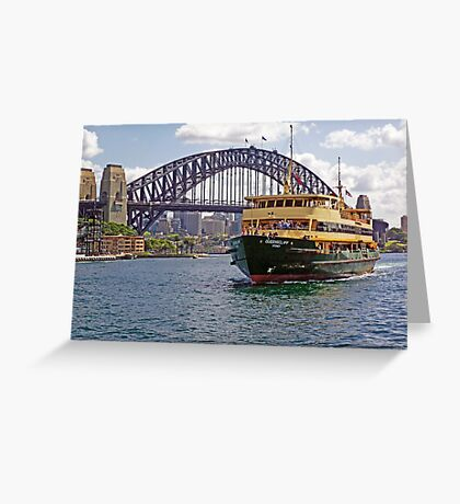 Manly Ferry approaching Circular Quay Greeting Card