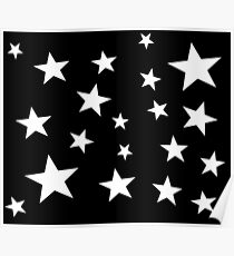 Star Spangled Black Night Poster