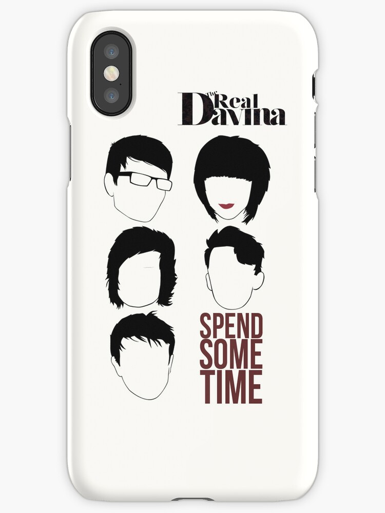 The Real Davina - Spend Some Time iPhone Case by TheRealDavina