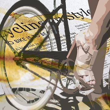 retro BICYCLE URBAN CHIC print de SFDesignstudio