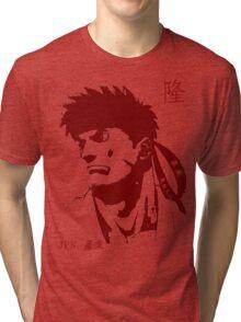 Ryu 隆 - The Spiritual Warrior Tri-blend T-Shirt