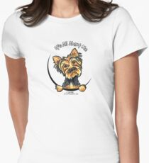 Yorkie Its All About Me Women's Fitted T-Shirt