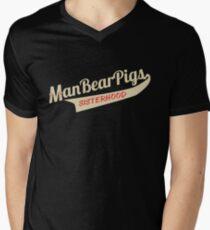 Man Bear Pigs Sisterhood Men's V-Neck T-Shirt