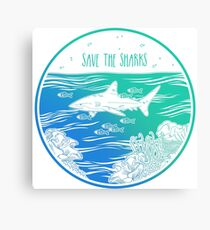 Save the Sharks! Canvas Print