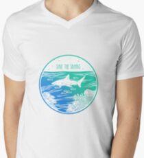 Save the Sharks! Men's V-Neck T-Shirt