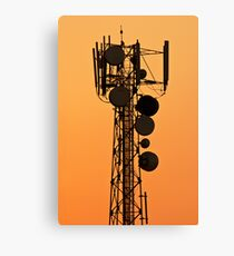 Mobile Tower Silhouette Canvas Print