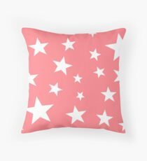 Star Spangled Bubble Gum Throw Pillow