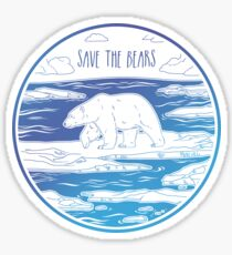 Save the Bears! Sticker