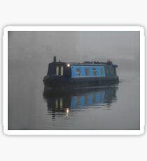 Foggy Barge Sticker