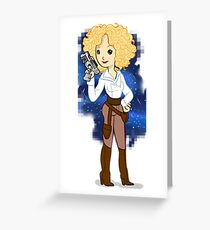 The river across the space Greeting Card