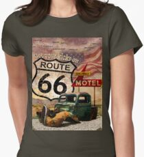 Get your Kicks on Route 66 Women's Fitted T-Shirt