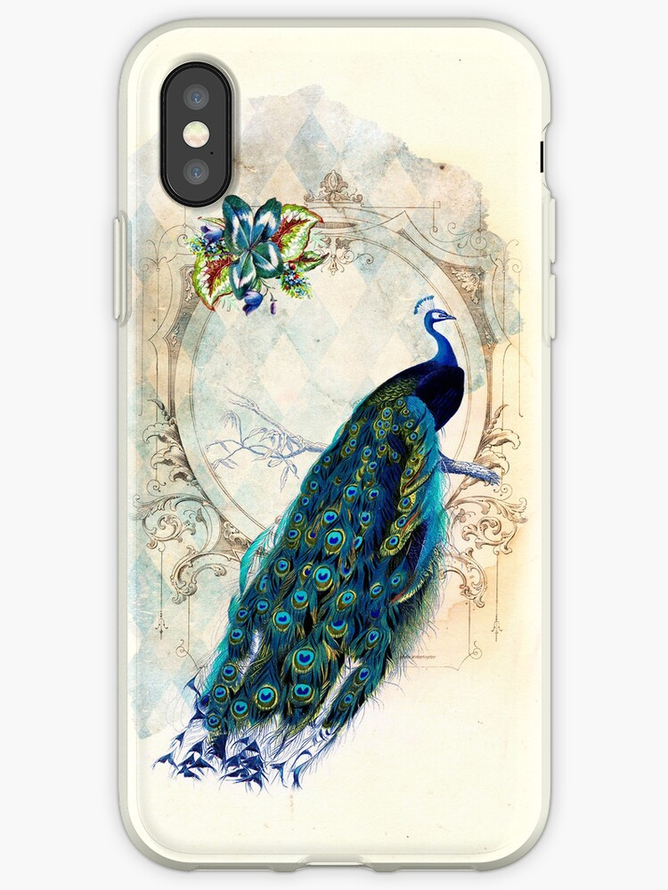 Vintage Peacock Case von curiousfashion