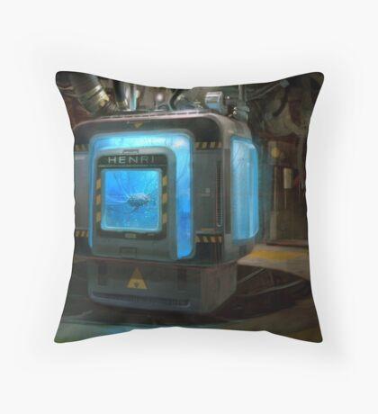 HENRi Brain Machine Throw Pillow