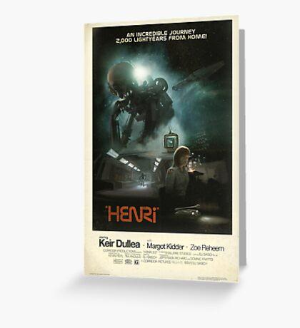 HENRi Poster Greeting Card