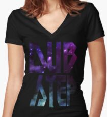 DUBSTEP TEE Women's Fitted V-Neck T-Shirt