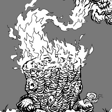 Holy Blazing Yule Log by misterbrumage