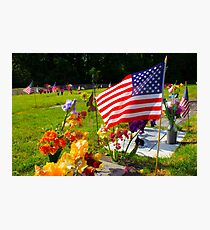 Memorials Photographic Print