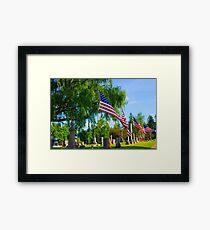 Monuments Framed Print