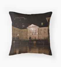 Custom House at night, Belfast Throw Pillow