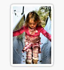 Running Down The Playground Slide Sticker
