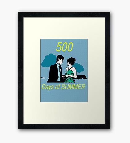 500 days of Summer Framed Print