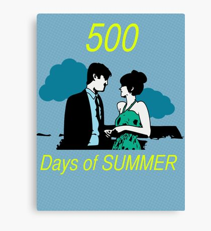 500 days of Summer Canvas Print