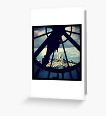 Sacre Couer through the eyes of Musee D'Orsay Greeting Card