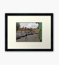 A streetscape Framed Print