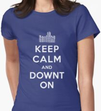 Keep Calm and DOWNTON! Womens Fitted T-Shirt