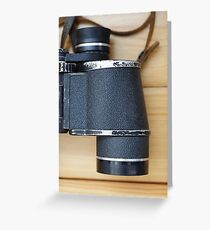 binocular Greeting Card