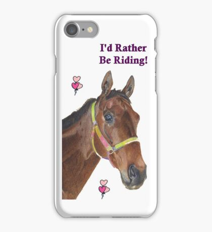 Cute Equestrian Horse iPhone or iPod cases iPhone Case/Skin