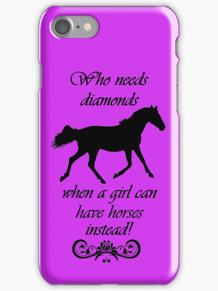 Who Needs Diamonds...Equestrian Horse iPhone & iPod Cases by Patricia Barmatz