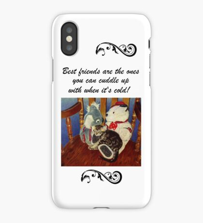 Adorable Kitten with Stuffed Animals iPhone or iPod Cases iPhone Case
