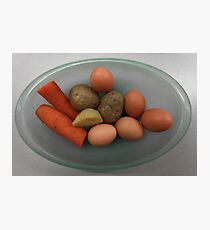 Boiled   eggs  and  vegetables   Photographic Print