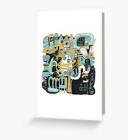 Welcome my son, welcome to the machine Greeting Card