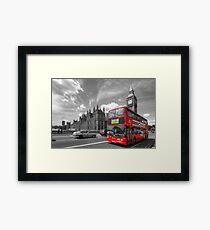 London Big Ben & Red Bus Framed Print