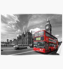 London Big Ben & Red Bus Poster