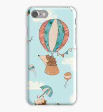 Flying hedgehogs! iPhone Case/Skin
