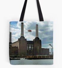 Battersea Power Station( pihk floyd pig) no.4 Tote Bag