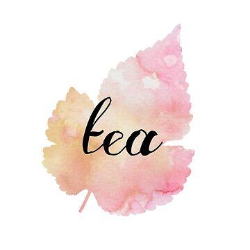 Watercolor Tea Leaf by daeaye