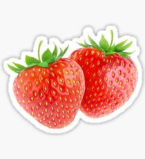 Two strawberries Sticker