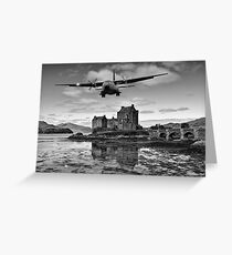 Flying over Eilean Donan Castle Greeting Card